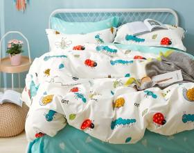 Комплект постельного белья 1,5-спальный, печатный сатин 1225-4S