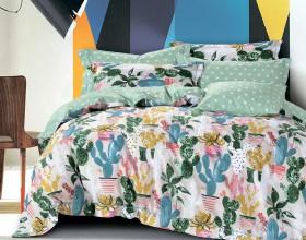 Комплект постельного белья 1,5-спальный, печатный сатин 1274-4S