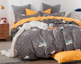 Комплект постельного белья 1,5-спальный, печатный сатин 1275-4S
