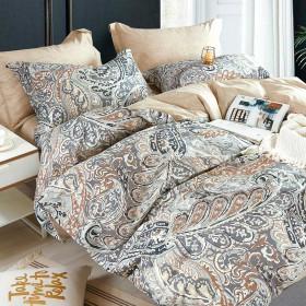 Комплект постельного белья Евро, печатный сатин 1280-6