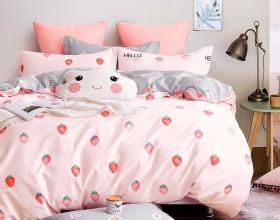 Комплект постельного белья 1,5-спальный, печатный сатин 1321-4S