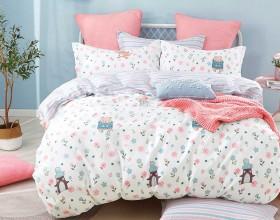 Комплект постельного белья 1,5-спальный, печатный сатин 1322-4S