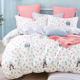 Комплект постельного белья 1,5-спальный, печатный сатин 1322-4XS