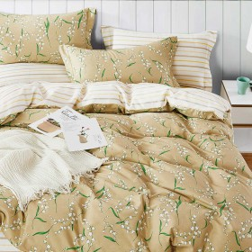 Комплект постельного белья Семейный, печатный сатин 1339-7