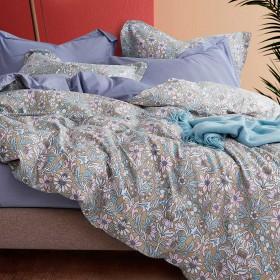 Комплект постельного белья 1,5-спальный, печатный сатин 1341-4S