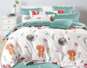 Комплект постельного белья 1,5-спальный, печатный сатин 1344-4S