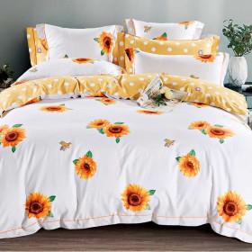 Комплект постельного белья Семейный, печатный сатин 1348-7