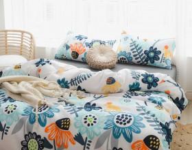 Комплект постельного белья 1,5-спальный, печатный сатин 1350-4S