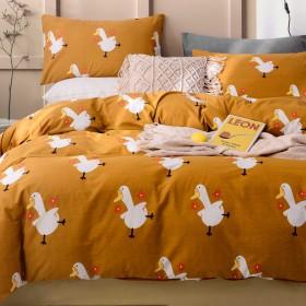 Комплект постельного белья 1,5-спальный, печатный сатин 1351-4S