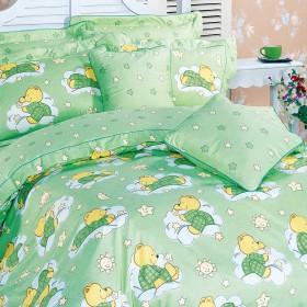 Комплект постельного белья 1,5-спальный, печатный сатин 1355-4XS