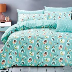 Комплект постельного белья 1,5-спальный, печатный сатин 1356-4XS