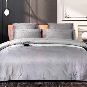 Комплект постельного белья 1,5-спальный, хлопковый жаккард 1385-4S