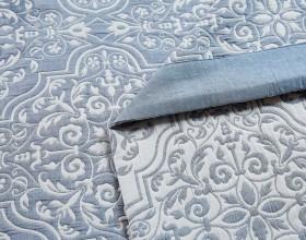 Плед ЛЕТНИЙ хлопковый муслин, наполнитель искусственный шелк 200х220 см, 1389-OM