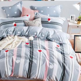 Комплект постельного белья 1,5-спальный, печатный сатин 1393-4S