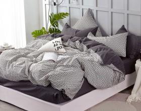Комплект постельного белья 1,5-спальный, печатный сатин 1394-4S
