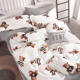Комплект постельного белья 1,5-спальный, печатный сатин 1397-4XS
