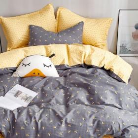 Комплект постельного белья 1,5-спальный, печатный сатин 1398-4XS