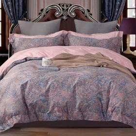 Комплект постельного белья Семейный, печатный сатин 1403-7