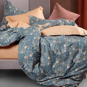 Комплект постельного белья Евро, печатный сатин 1410-6