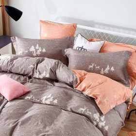Комплект постельного белья 1,5-спальный, фланель 1421-4S