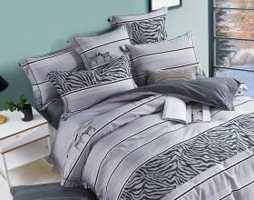 Комплект постельного белья 1,5-спальный, печатный сатин 1460-4S