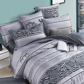 Комплект постельного белья Евро, печатный сатин 1460-6