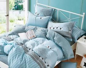 Комплект постельного белья 1,5-спальный, печатный сатин 1464-4S