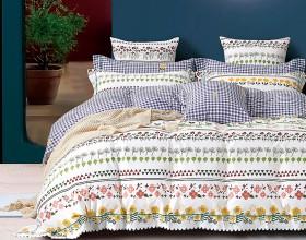 Комплект постельного белья 1,5-спальный, печатный сатин 1474-4S