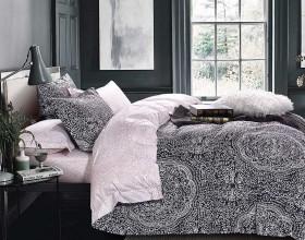 Комплект постельного белья 1,5-спальный, печатный сатин 1478-4S
