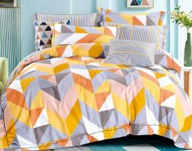 Комплект постельного белья 1,5-спальный, печатный сатин 1483-4S
