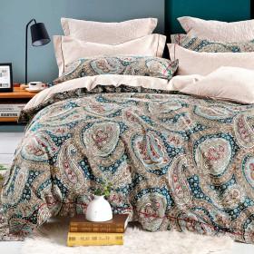 Комплект постельного белья Евро, печатный сатин 1488-6