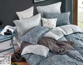 Комплект постельного белья 1,5-спальный, печатный сатин 1490-4S