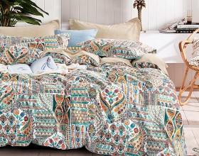 Комплект постельного белья 1,5-спальный, печатный сатин 1498-4S