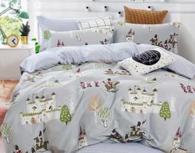 Комплект постельного белья 1,5-спальный, печатный сатин 1500-4S