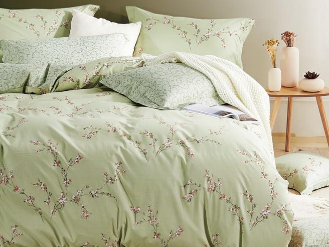 Комплект постельного белья 1,5-спальный, печатный сатин 209-4S