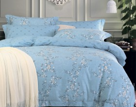 Комплект постельного белья Евро, печатный сатин 356-6