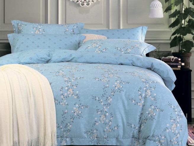 Комплект постельного белья 1,5-спальный, печатный сатин 356-4S