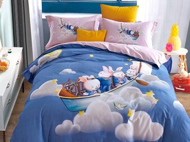 Комплект постельного белья Евро, фланель 439-6