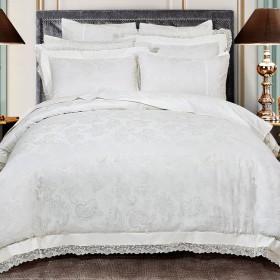 Комплект постельного белья Евро, жаккард 469-4