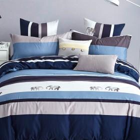 Комплект постельного белья Евро, печатный сатин 482-6