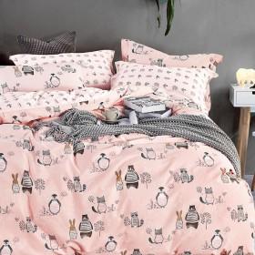 Комплект постельного белья 1,5-спальный, печатный сатин 483-4S