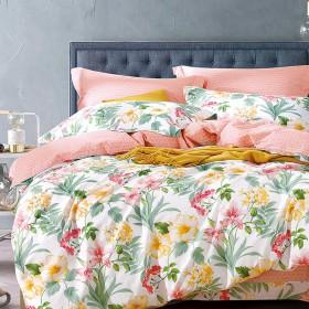 Комплект постельного белья 1,5-спальный, печатный сатин 485-4S