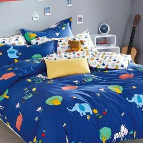 Комплект постельного белья 1,5-спальный, печатный сатин 493-4S
