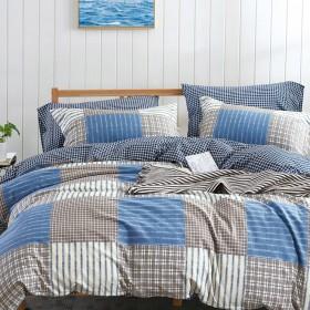 Комплект постельного белья 1,5-спальный, печатный сатин 503-4S