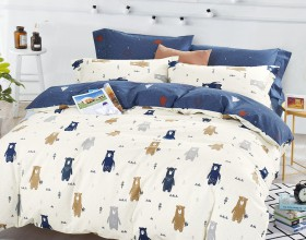 Комплект постельного белья 1,5-спальный, печатный сатин 504-4XS