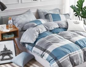 Комплект постельного белья 1,5-спальный, печатный сатин 508-4S