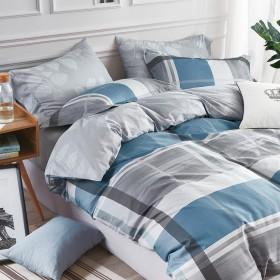 Комплект постельного белья Евро, печатный сатин 508-6