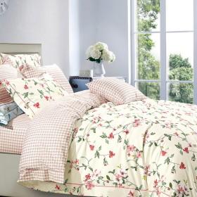 Комплект постельного белья 1,5-спальный, печатный сатин 517-4S