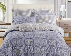Комплект постельного белья Евро, печатный сатин 521-6