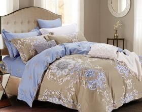 Комплект постельного белья Евро, печатный сатин 522-6
